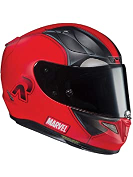 Casco Moto Hjc Marvel Rpha 11 Deadpool 2 Mc1sf Rojo (M, Rojo)