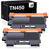 JARBO Compatible Toner Cartridge Replacement for Brother TN450 TN-450 TN420 TN-420 Toner Cartridge (2 Black, High Yield…