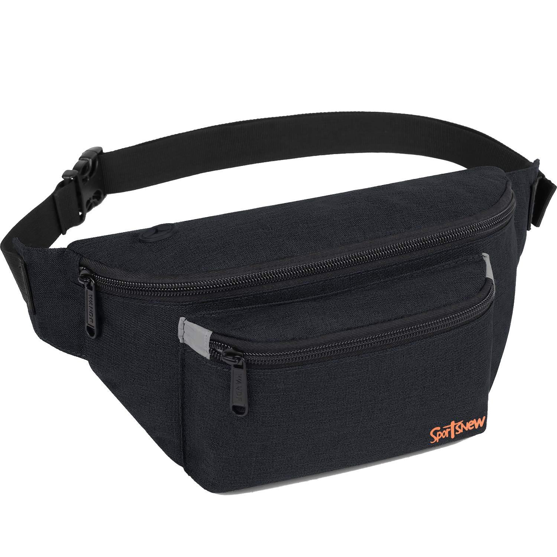 Fanny Pack for Men Women – Waist Bag Pack – Lightweight Belt Bag for Travel Sports Hiking