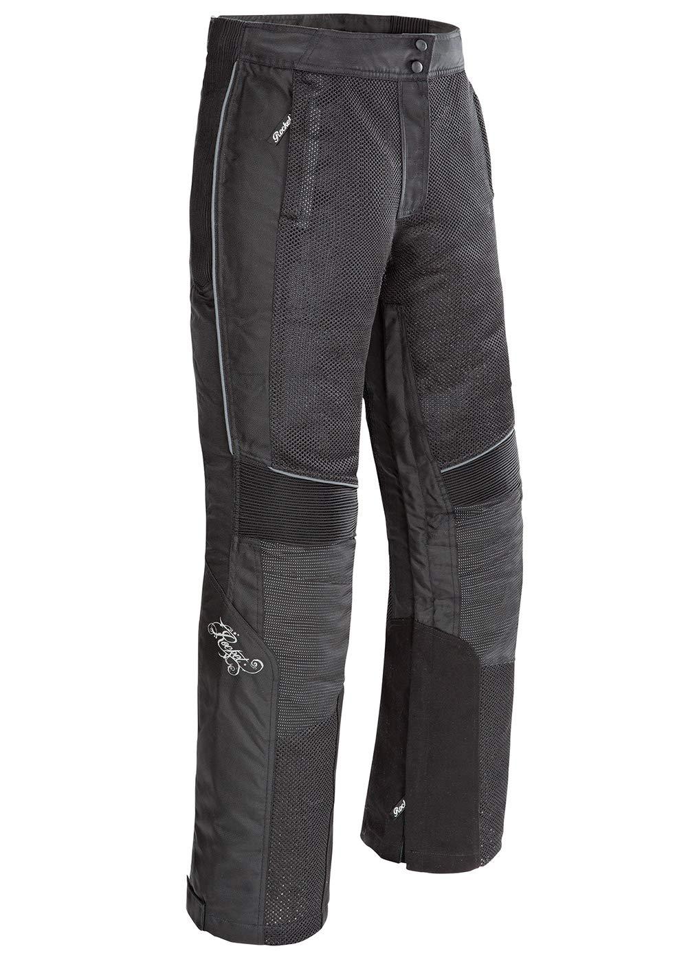 Joe Rocket 1524-2004 Cleo Elite Womens Textile Motorcycle Pants Black, Large