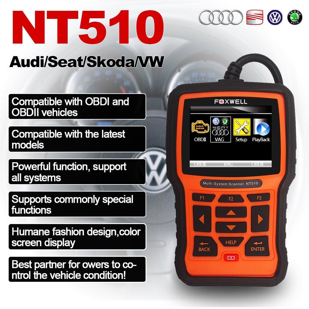 FOXWELL NT510 BMW Scan Tool Automotive OBD II Obd2 Code