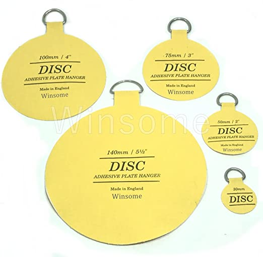 Amazon.com ORIGINAL INVISIBLE DISC PLATE PICTURE HANGING STICKY BACK HOOK HANGER ADHESIVE (75mm / 3) Kitchen u0026 Dining  sc 1 st  Amazon.com & Amazon.com: ORIGINAL INVISIBLE DISC PLATE PICTURE HANGING STICKY ...