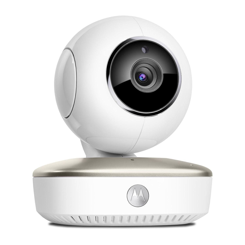 Motorola MBP67 Connect - Wi-Fi baby monitor video portatile con eco modo, rileva rumori, movimento e temperatura, Bianco