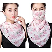 Fashion Scarf Face Mask Chiffon Washable Reusable Protection From Dust, Pollen, Pet Dander, And Airborne Irritants.