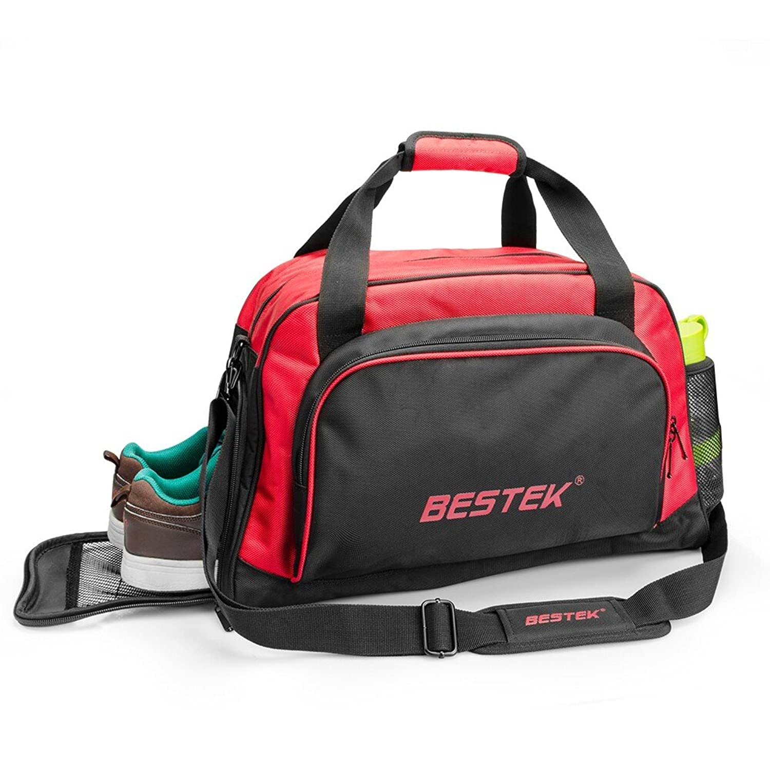 Amazon.com: BESTEK Sport Gear Equipment Gym Duffle Bag Travel ...