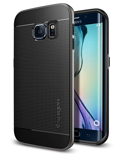 online retailer 06020 e7811 spigen Neo Hybrid Galaxy S6 Edge Case with Flexible Inner Protection and  Reinforced Hard Bumper Frame for Galaxy S6 Edge 2015 - Gunmetal