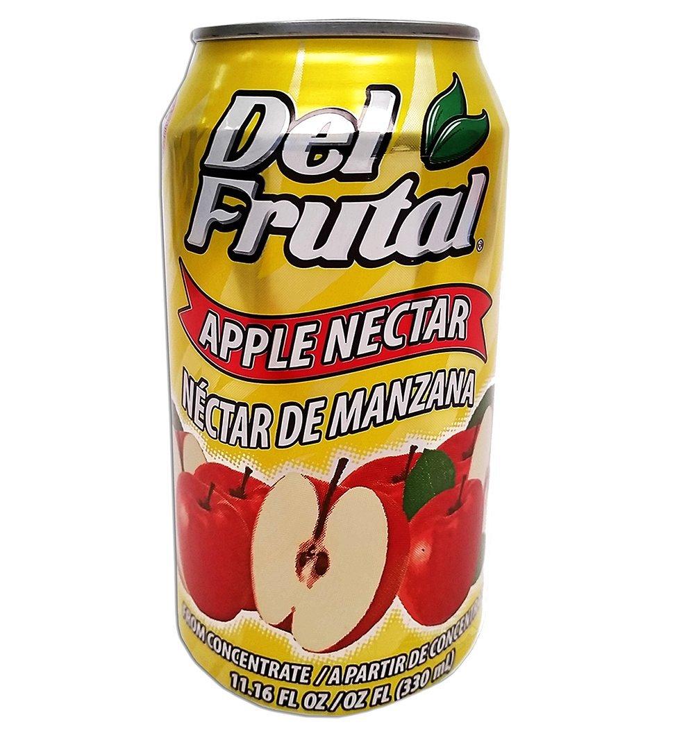 Del Frutal Apple Nectar 11.16 oz - Sabor Manzana (Pack of 12)