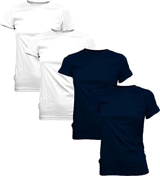 Junior Slim Fit Plain T-Shirt Crew Round Neck Short Sleeves Blank Tee SIZE S-XL