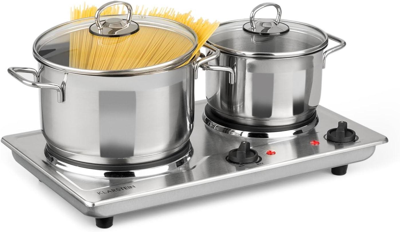 Klarstein Cookomaniac - Cocina eléctrica, Dos fogones, 2500 W ...