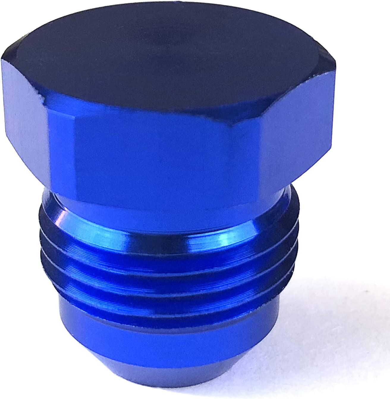 "6 JIC 9//16/"" UNF Male Blanking Plug For Female Fittings APS Anodised Blue"