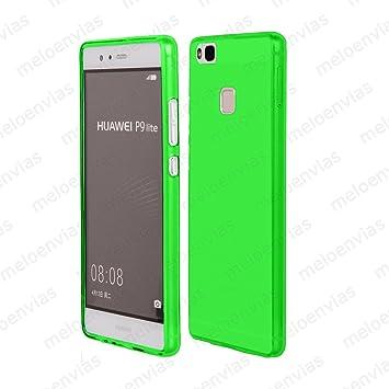 MELOENVIAS Funda Carcasa para Huawei P9 Lite Gel TPU Liso Mate Color Verde