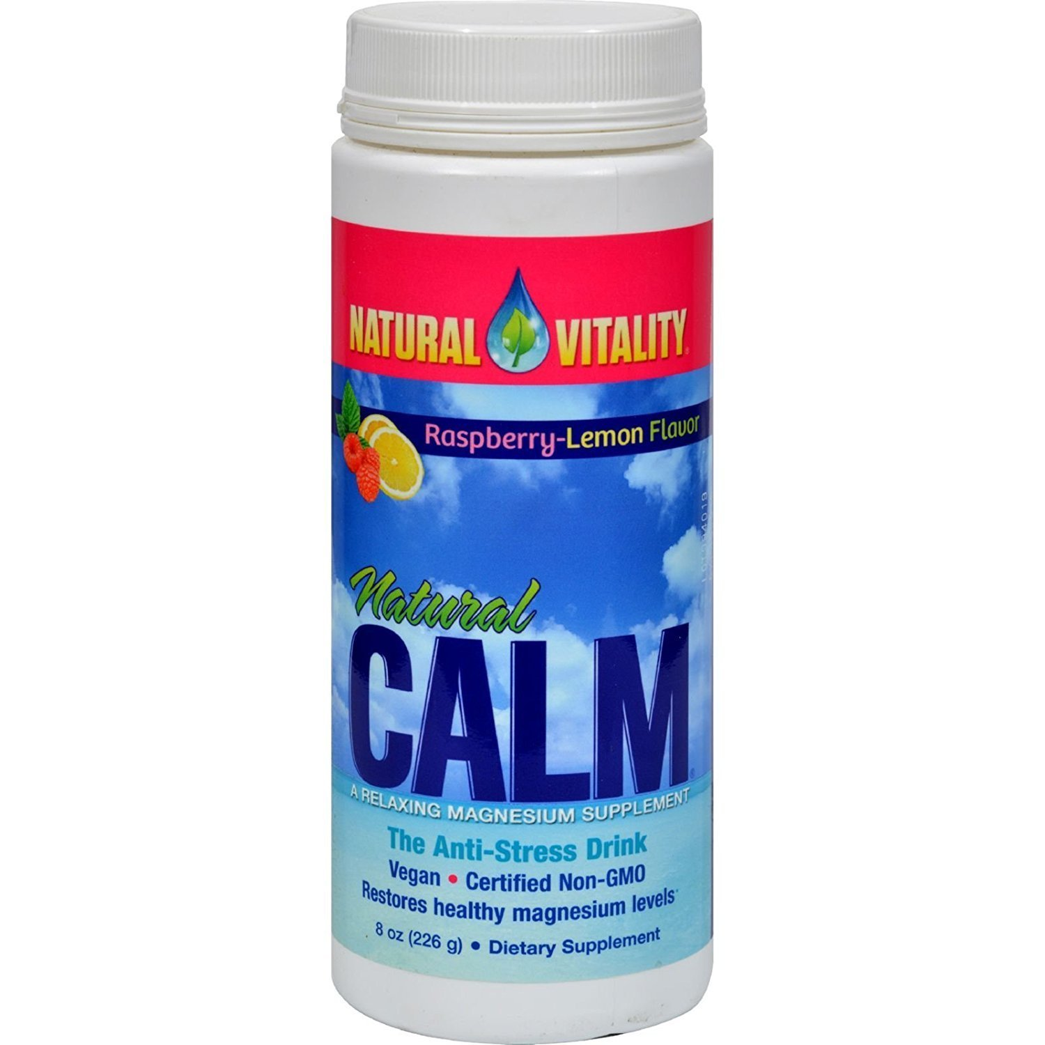 Natural Vitality Vitamin Calm Rspbry Lmn