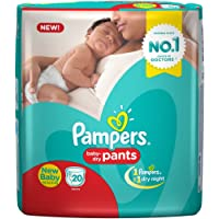 Pampers New Born Size Diaper Pants, (20 Count)