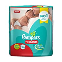 Pampers New Born Size Diaper Pants, White(20 Count)