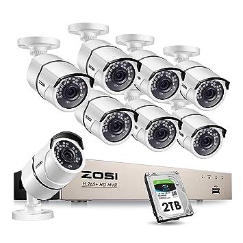 ZOSI Kit de Cámaras de Seguridad PoE 8CH 5MP PoE NVR + (8) Cámara ...
