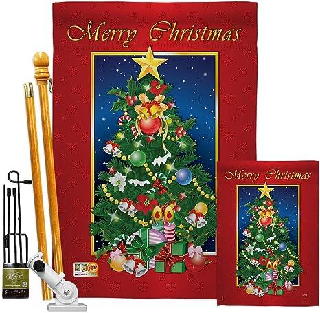 Christmas Tree Ornaments Snowflake House Flag Large 40 x 28