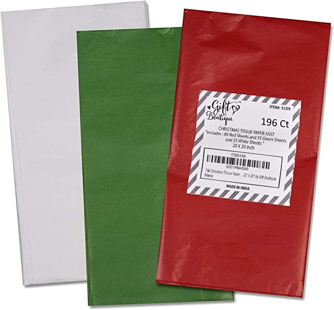 20\u201d x 30\u201d Large Sheets Solid Red Gift Tissue Paper