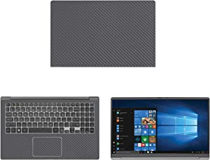 "decalrus - Protective Decal for LG Gram 15Z980 (15.6"" Screen) Laptop Grey Carbon Fiber Skin case Cover wrap CFlgGram15Z980Grey"