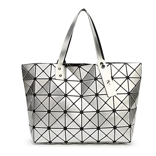 STRAWBERRYER Dreidimensionale Geometrie PU Frauen Schultertaschen Satchel Tote Oblique Cross Handtas...