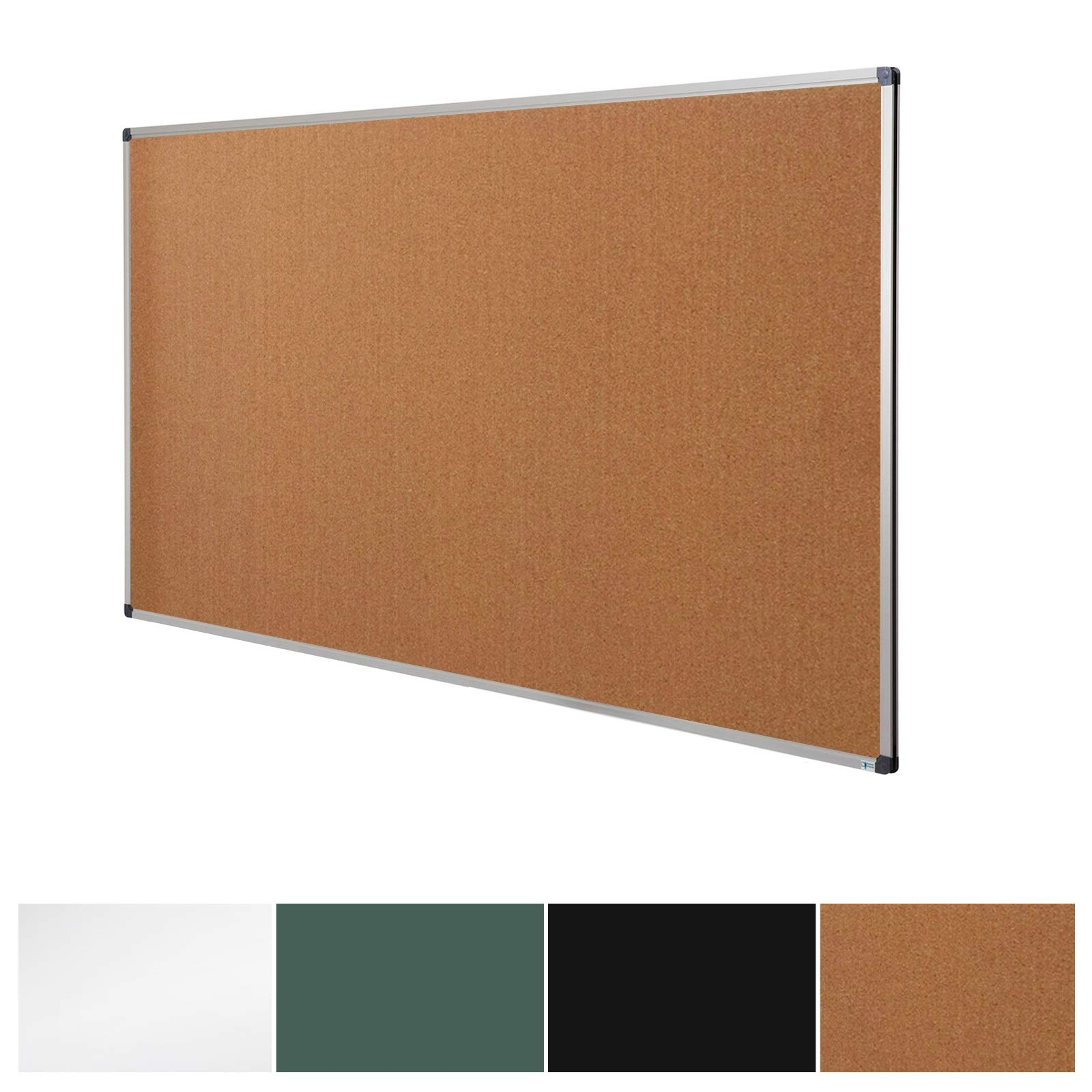Cork Notice Pin Board | Aluminum Framed Memo Board for Office and Home Use | 3 Sizes Available - 36'' x 24''