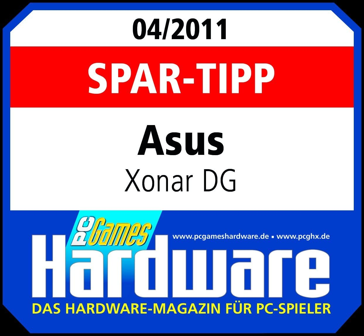 Amazon.com: ASUS XONAR DG Headphone Amp & PCI 5.1 Audio Card ...