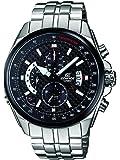 CASIO Edifice EFR-501SP-1AVEF - Reloj analógico de cuarzo con correa de acero inoxidable para hombre (alarma, cronómetro, sumergible a 100 m), color plateado