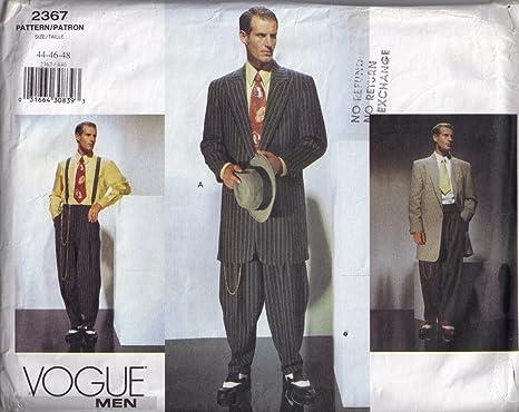 Amazon.com: Vogue Zoot - Traje para hombre (tallas 38-42 ...