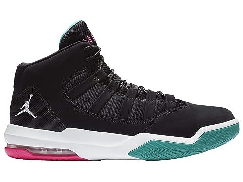 NIKE Jordan Max Aura - Mens Black/White/Hyper Pink/Turbo Green Leather
