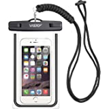 Wsky 防水ケース 防水携帯ケース IPX8防水 スマホ用 iPhone X/8/7/6s/6 Plus 対応 通話可能 指紋認証対応 タッチ可能 水中撮影 海水浴 お風呂 潜水 温泉 水泳など適用 7インチ