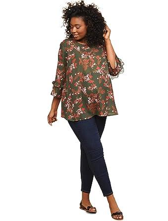 2fa1cf29d01f89 Motherhood Indigo Blue Plus Size Petite Secret Fit Belly Skinny Leg Maternity  Jeans at Amazon Women's Clothing store: