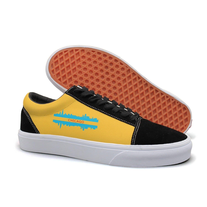 VCERTHDF Chicago City Skyline Design Classic Slip-On Shoe Men