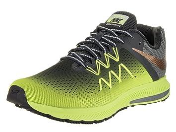 b56114f8b3521 Nike Men's Zoom Winflo 3 Shield Volt/MTLC Red Bronze Running Shoe ...