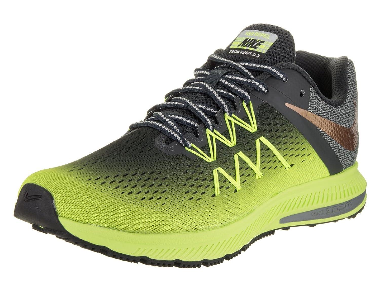 Amazon.com | NIKE Men's Zoom Winflo 3 Shield Volt/Mtlc Red Bronze Running  Shoe 8.5 Men US | Running