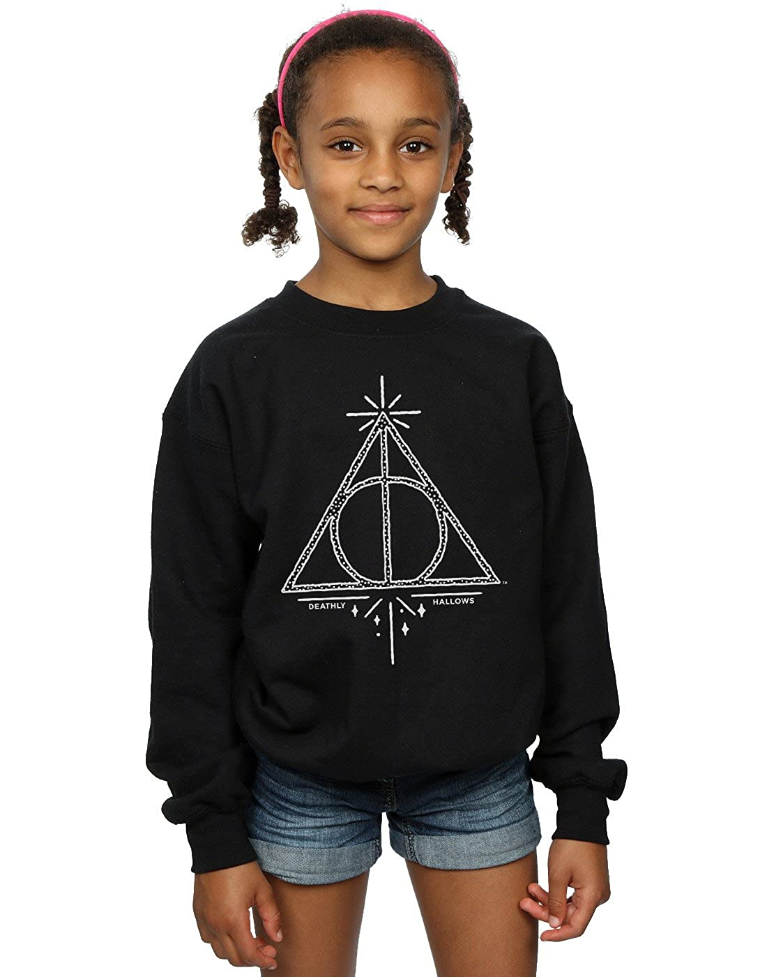 Harry Potter Fille Deathly Hallows Symbol Sweat-Shirt 9-11 Years Noir