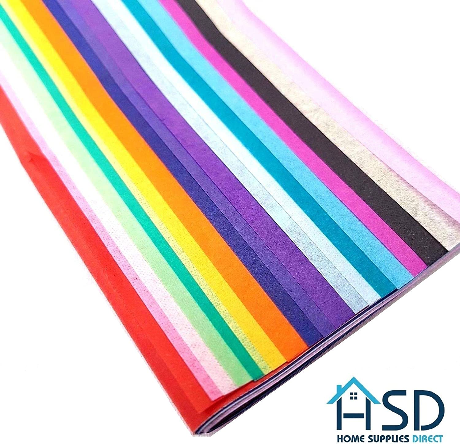 50cm x 66cm Solid Colour Crepe Paper Sheets Assorted Colours Kids Art and Craft Tissue Paper Lizzy/® 20pk Coloured Tissue Paper Perfect for Gift Wrapping