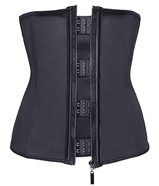 a0527adea Miss Moly Womens Latex Boned Waist Trainer Cincher Shapewear with Zipper  Plus Size  Amazon.ca  Clothing   Accessories