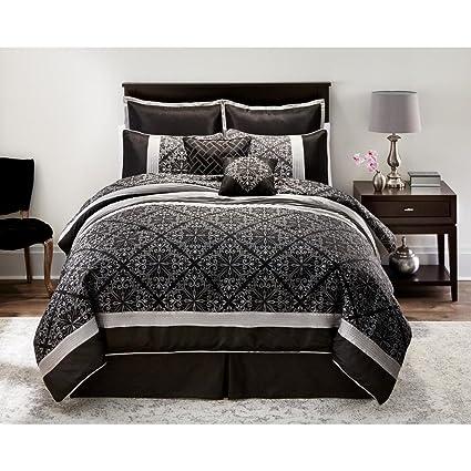 Amazon.com: Bed Linens. Essential 8 Pc. Comforter Set ...
