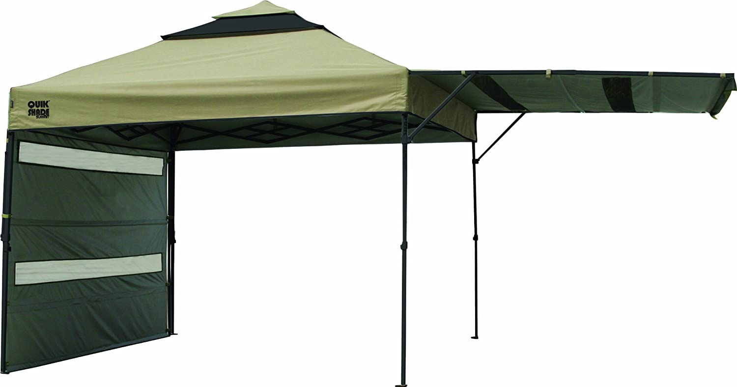 Amazon Quik Shade Summit S233 Instant Canopy With Double Full Wall Awnings 10x10 Feet Sports Outdoors