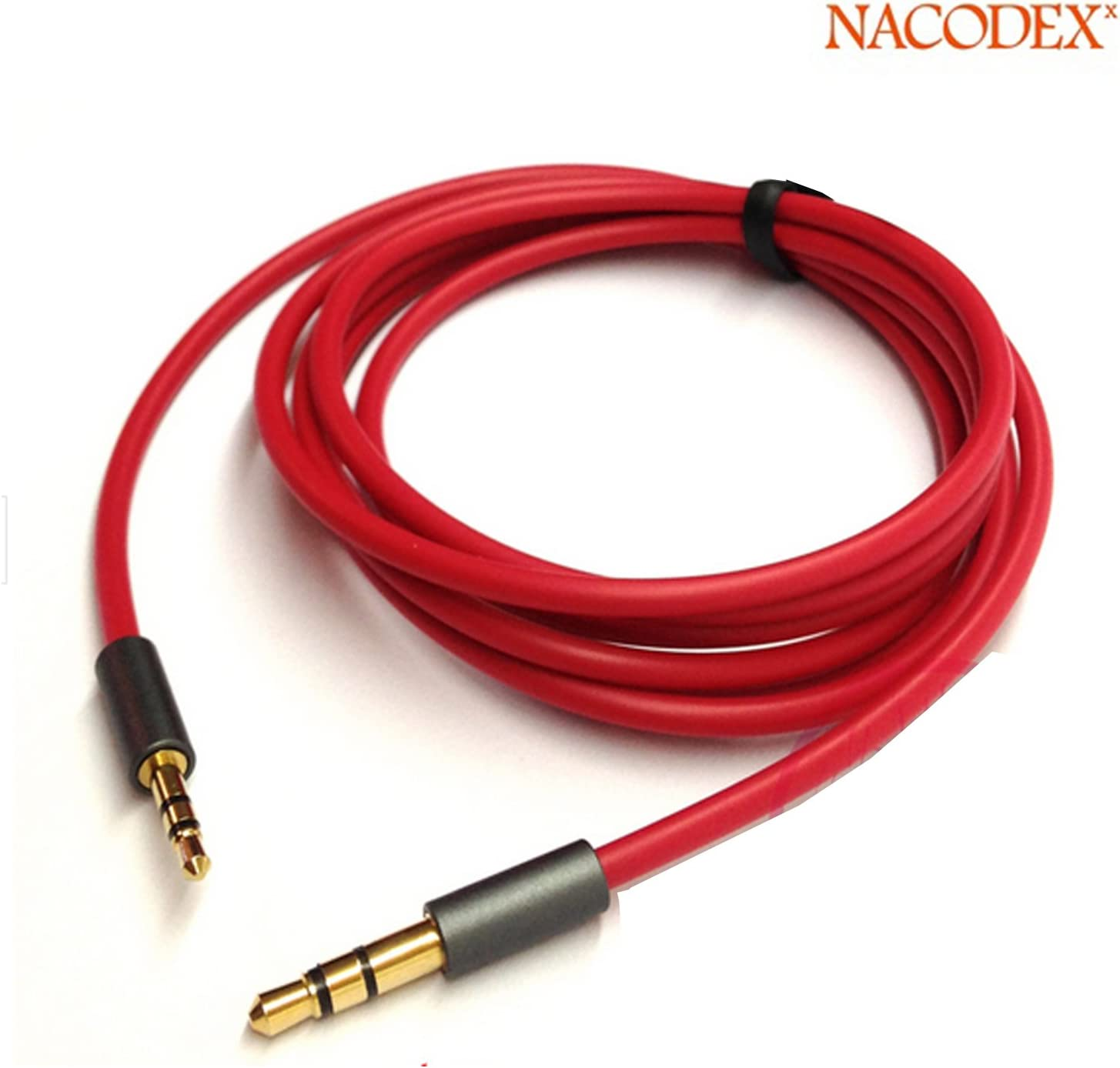 Nacodex [ Male to Male ] 2.5mm Male to 3.5mm Male Audio Adapter Cable Work with Car AUX Male to Male for the Record Line Gps Navigation [100cm]