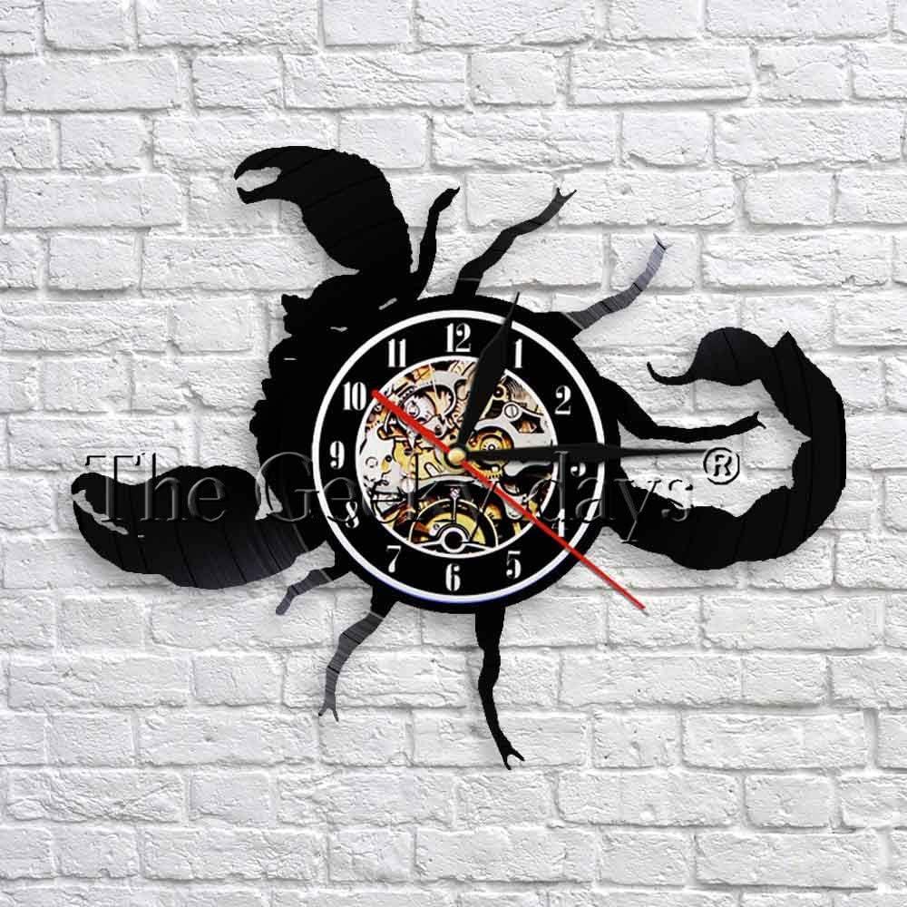 GVC Scorpio Zodiac Wall Art Decor Time Clock Star Sign Astrology Vinyl Wall Clock 3D Relojes de Pared para la decoración de la Sala de Estar