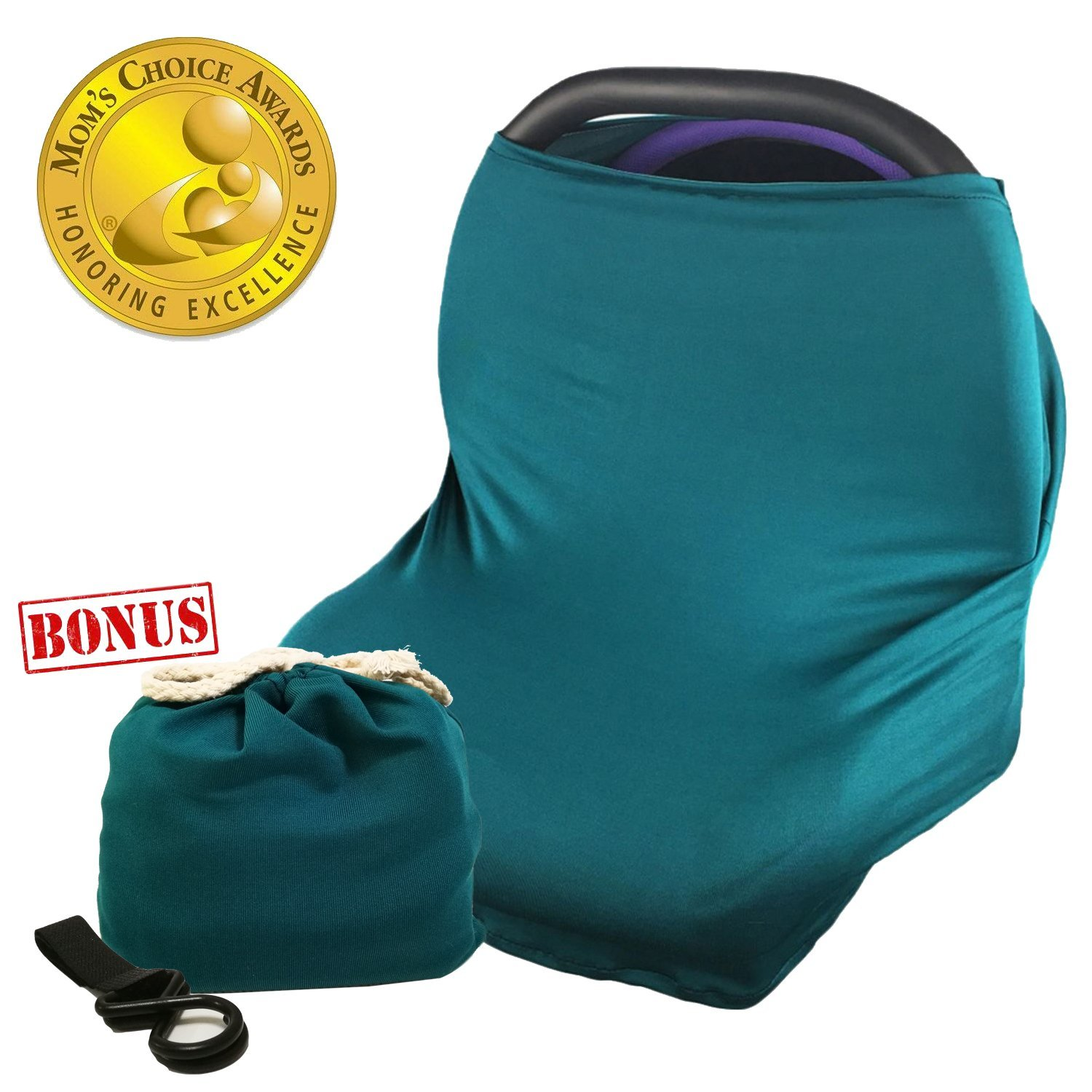 Bears Multi-Use Nursing Cover Baby Car Seat Canopy Shopping Cart Stroller Cover Stretchy Ultra Soft Infant Breastfeeding and Infinity Scarf Gift for New Mom