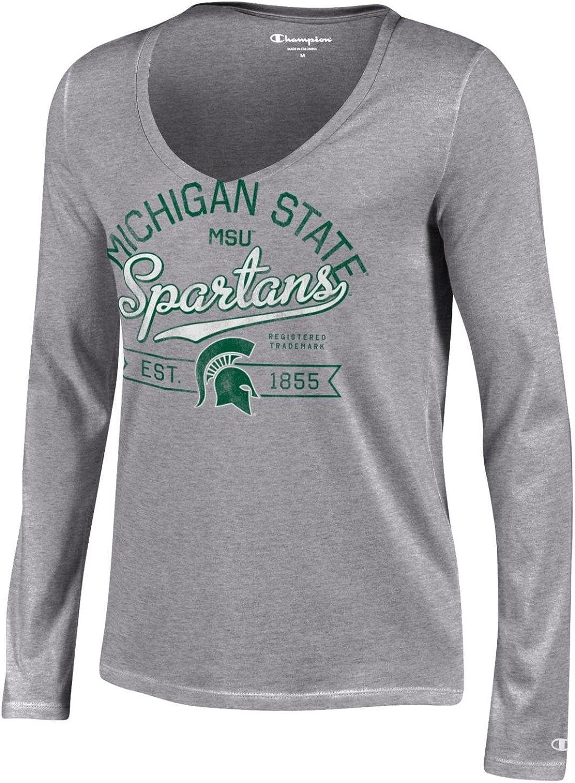 Champion NCAA Womens University Long Sleeve V-Neck T-Shirt