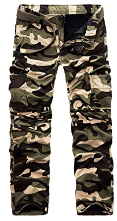 589c19001a835 Image Unavailable. Image not available for. Color: Men's Camo Cargo Pants  Fleece Lined Winter ...