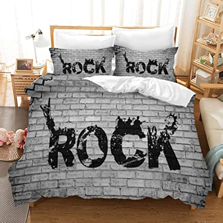 Copripiumino Musica.Nylin Copripiumino Roccia Set Rock Banda Musica Chitarra Vittoria