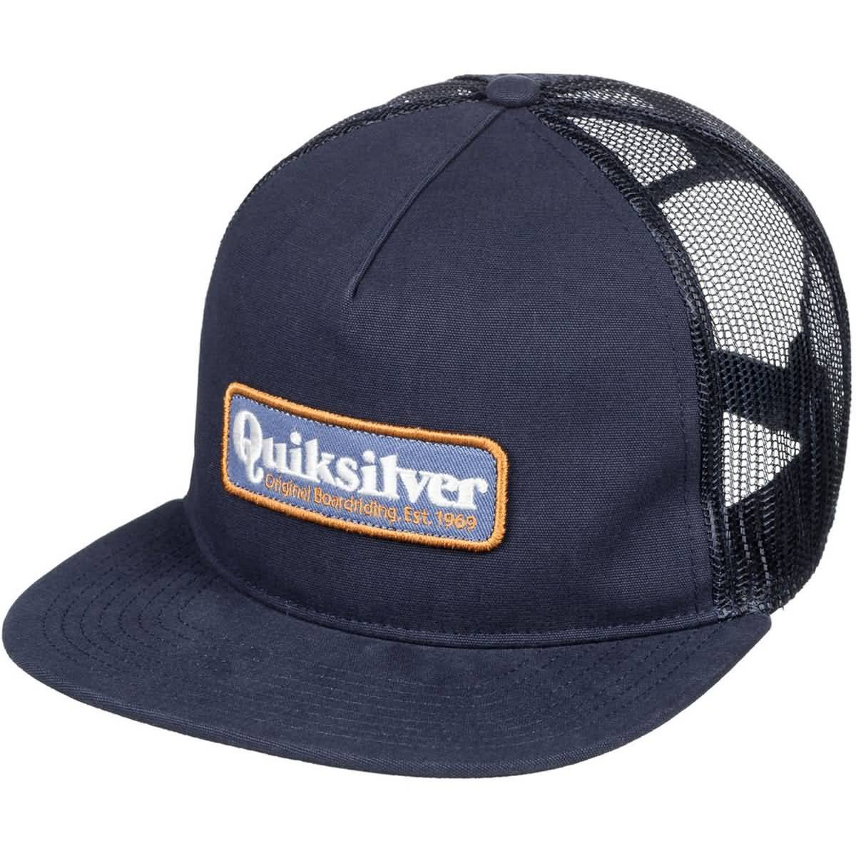 Quiksilver Men's Pursey Trucker Hat, Navy Blazer, 1SZ