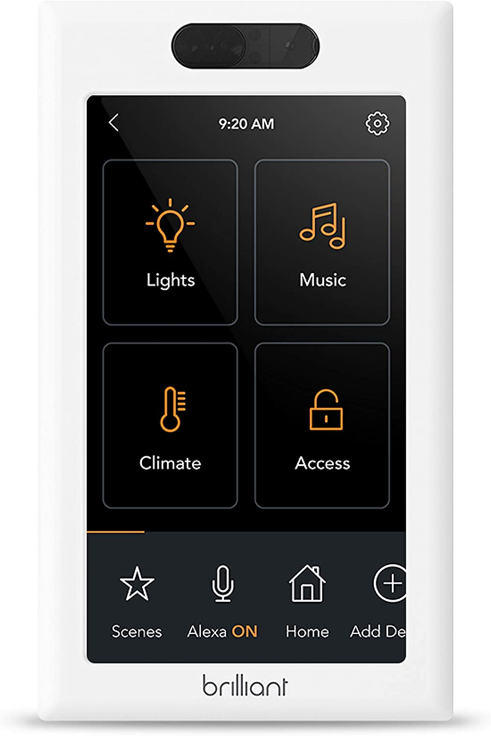 Brilliant Smart Home Control (1-Switch Panel) — Alexa Built-In & Compatible with Ring, Sonos, Hue, Kasa/TP-Link, Wemo, SmartThings, Apple HomeKit — In-Wall Touchscreen Control for Lights, Music & More