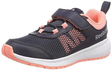 e575426ed37e9a Reebok Mädchen Road Supreme Fitnessschuhe Mehrfarbig (Coll Navy Digital  Pink Wht Silver
