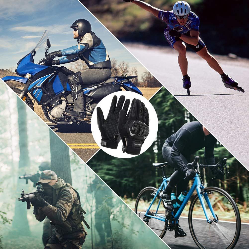 COFIT Guantes de Motos Guantes de Pantalla T/áctil Full Touch para Carreras de Motos MTB Senderismo y Otros Deportes al Aire Libre Escalada M//L//XL