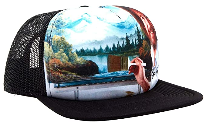 b42237237ecf2 Image Unavailable. Image not available for. Color  Bob Ross Landscape  Snapback Trucker Hat
