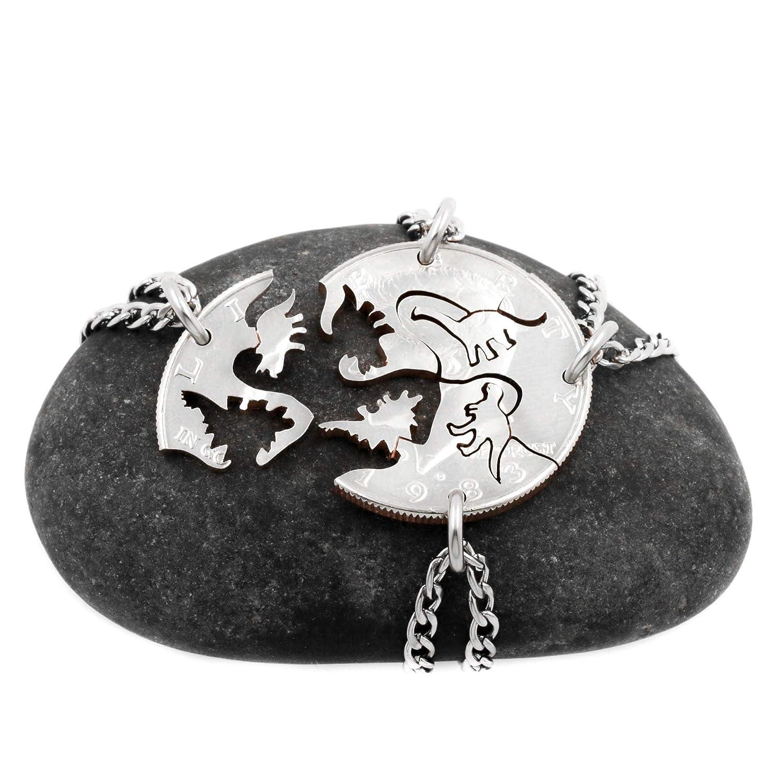 Custom Dino necklace grandchildren niece gift box name jewelry nephew children gift daughter gift for kids son dinosaur necklace